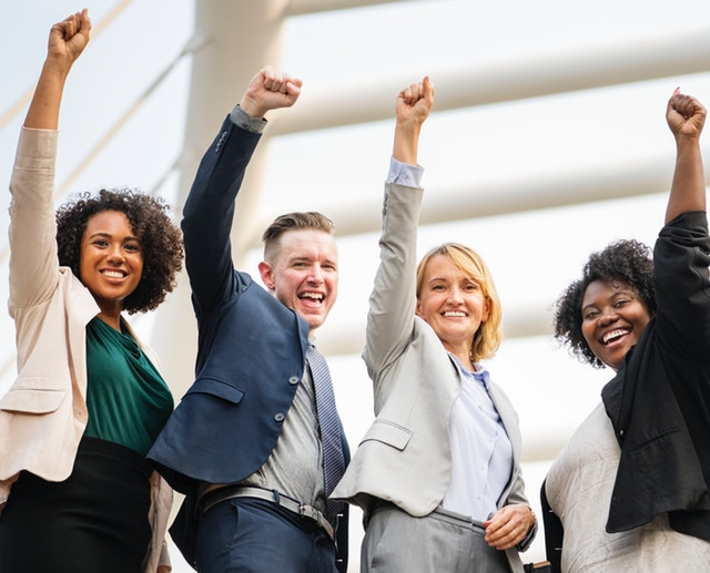 Successful business achievement
